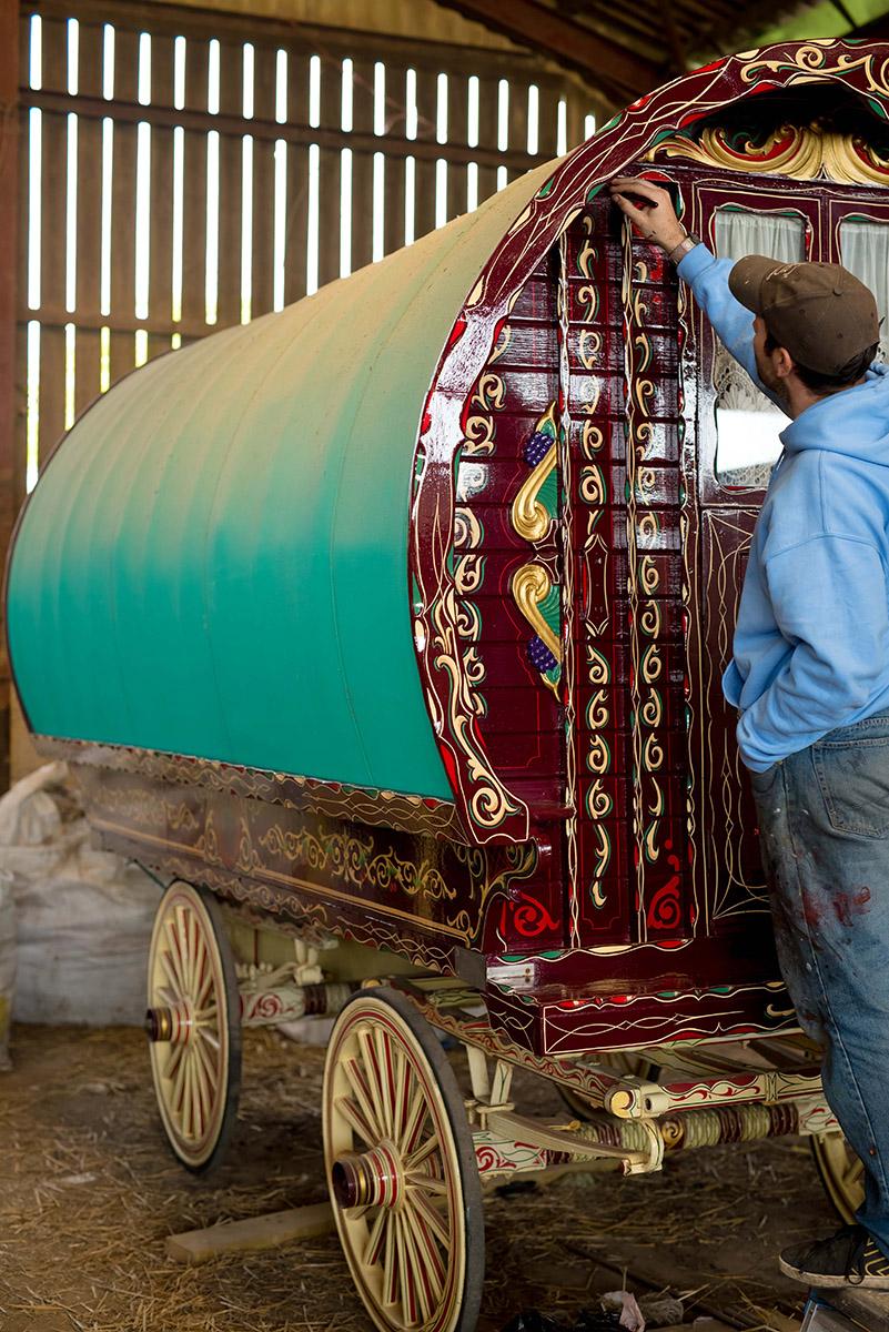 Restoring A Gypsy Caravan Steve Blackwell Signs And