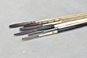 Signwriting brushes