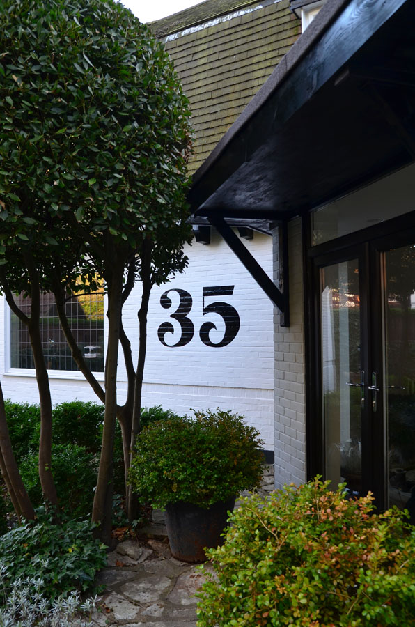Number 35 Painted House Number 171 Steve Blackwell Signs