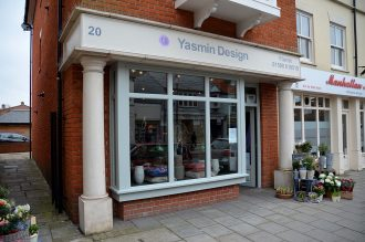 Yasmin Design - shop front Lymington