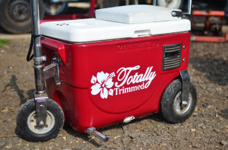 Totally Trimmed Coolbox Scooter - hand painted logo