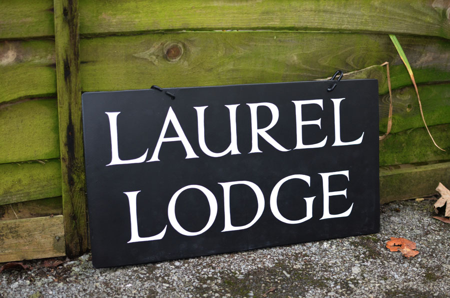 Hand painted house signs - Traditional signwriter, Dorset