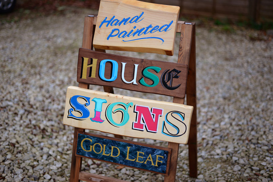 Hand Painted House Signs Traditional Signwriter Dorset