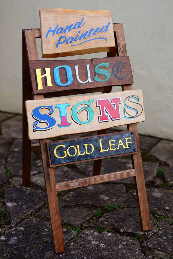 hand painted house signs