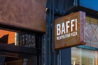 Baffi - neapolitan pizza - restaurant sign