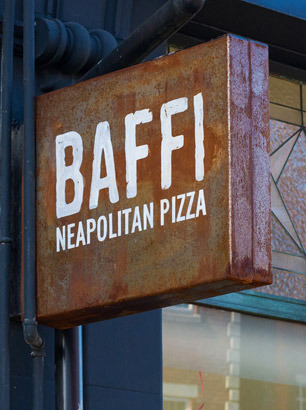 Baffi - shop sign
