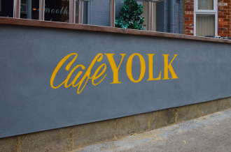 Cafe Yolk wall painting