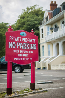 Boscombe Parking Sign