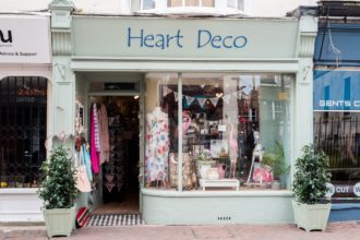 Heart Deco Poole Shopfront Signwriting