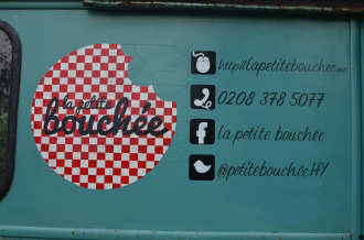 Van signwriting in South London - La Petite Bouchee