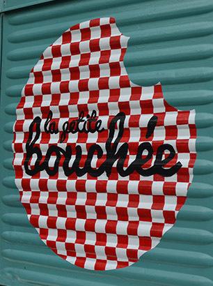 La Petite Bouchee logo - van signwriting