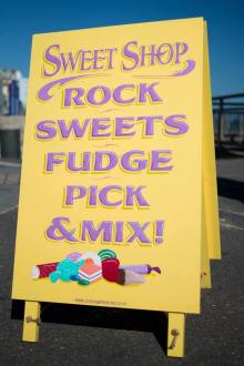 A-board for sweet shop