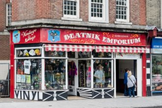 Vintage sign for Beatnik Emporium, Southampton