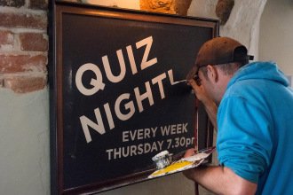 Christchurch Pub Signwriting at Ye Olde George Inn