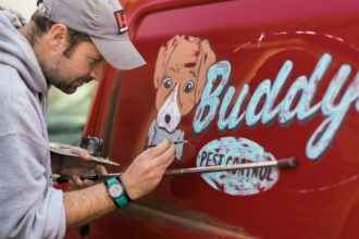 Buddy's van signwriting 03