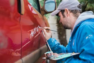 Buddy's van signwriting 05