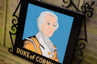 Weymouth pub sign - The Duke of Cornwall pub