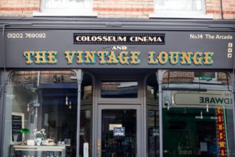 Gold leaf fascia The Vintage Lounge