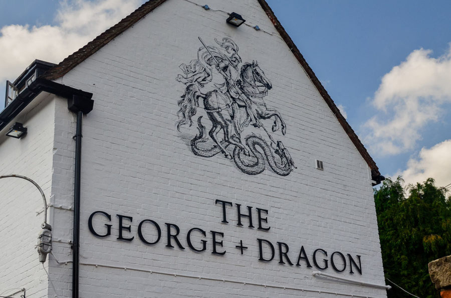 George and Dragon - pub signwriting