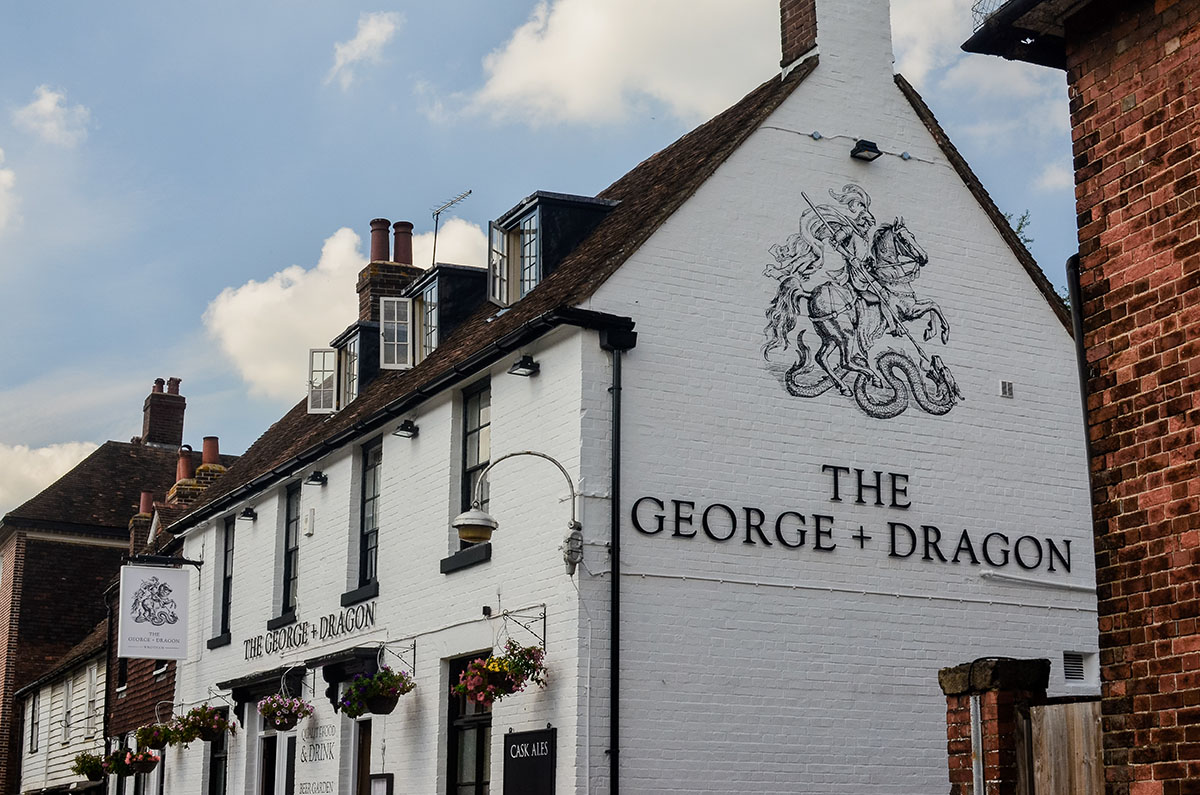 Pub Signwriting The George And Dragon 171 Steve Blackwell
