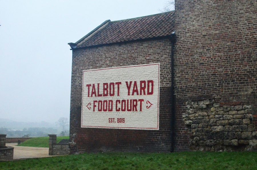 Exterior mural sign handpainted in Yorkshire