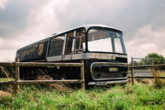 SU Carbs Racing Car Transporter Vintage Bus