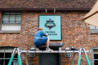 Crown and Garter sign pub