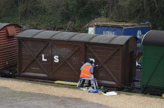 Swanage Railway signwriter