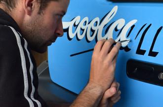 VW camper signwriting
