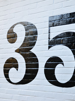 Hand painted house number