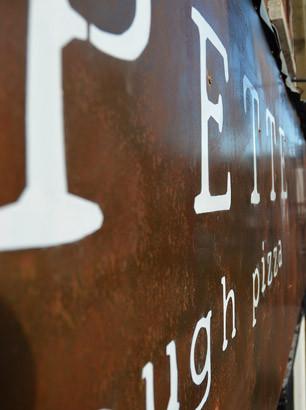 Polpette - shop sign & chalkboard